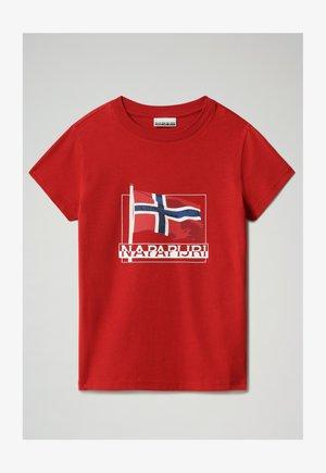 SEJI - Print T-shirt - old red