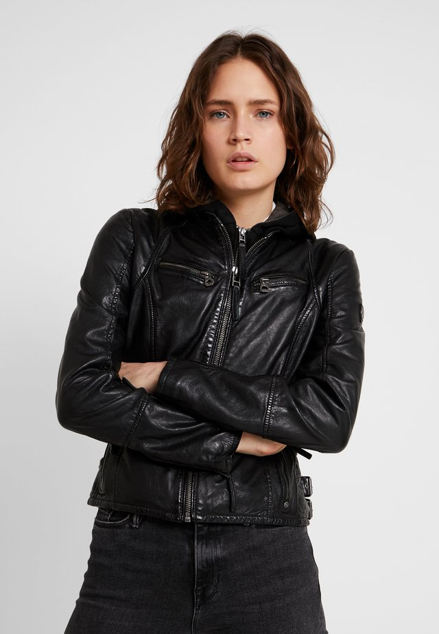 NOLA - Leather jacket - black