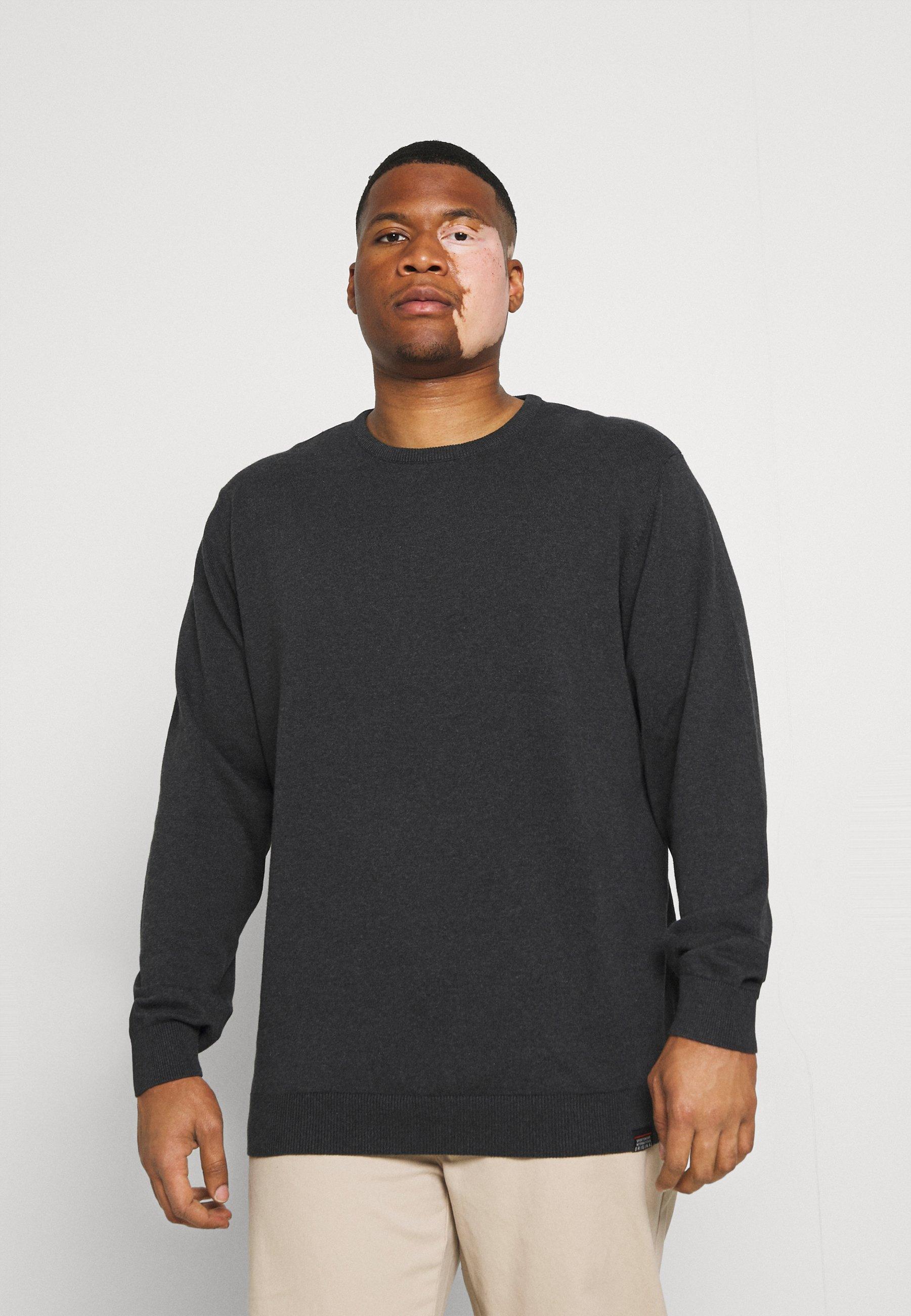 Homme PLAIN O NECK COMFORT FIT - Pullover