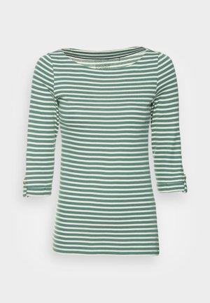 STRIPES TURNUP - Long sleeved top - teal blue