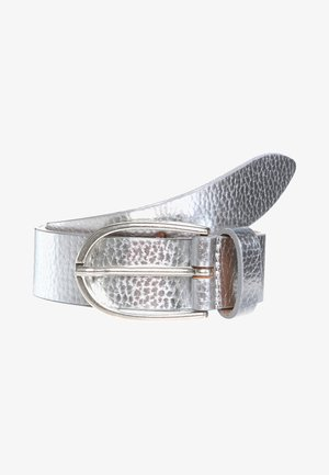 Belt business - silber metallic