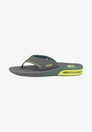 FANNING - T-bar sandals - grey volt