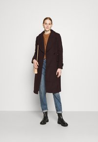 Forever New - RYLIE WRAP COAT - Classic coat - deep berry - 1