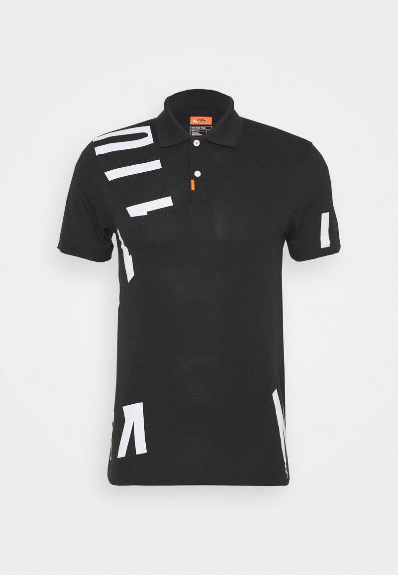Nike Golf - THE GOLF HACKED SLIM - Triko spotiskem - black