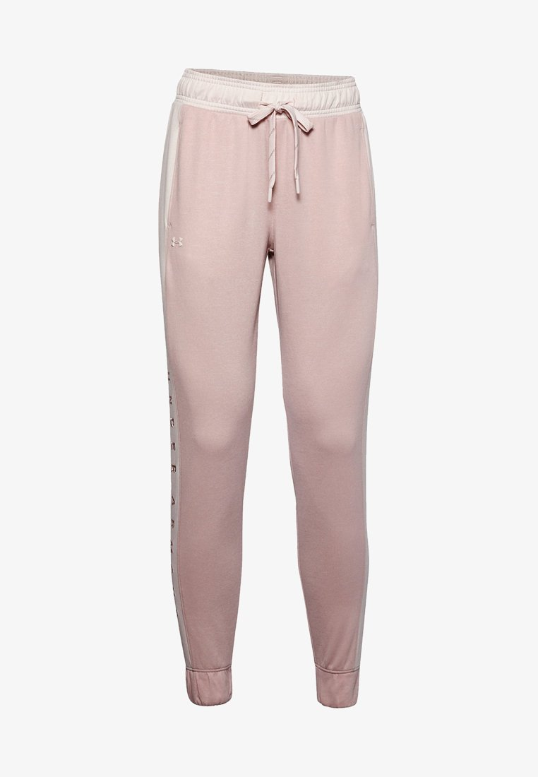 Under Armour - RECOVER  - Tracksuit bottoms - dash pink medium heather