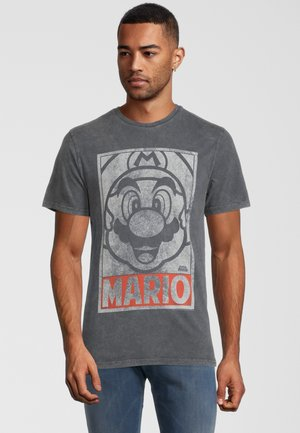 SUPER MARIO VINTAGE TONAL FACE - Print T-shirt - grau
