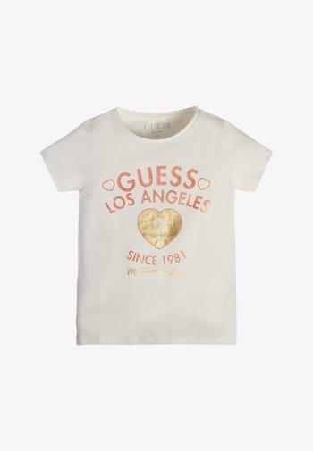 T SHIRT FRONTLOGO - Print T-shirt - weiß
