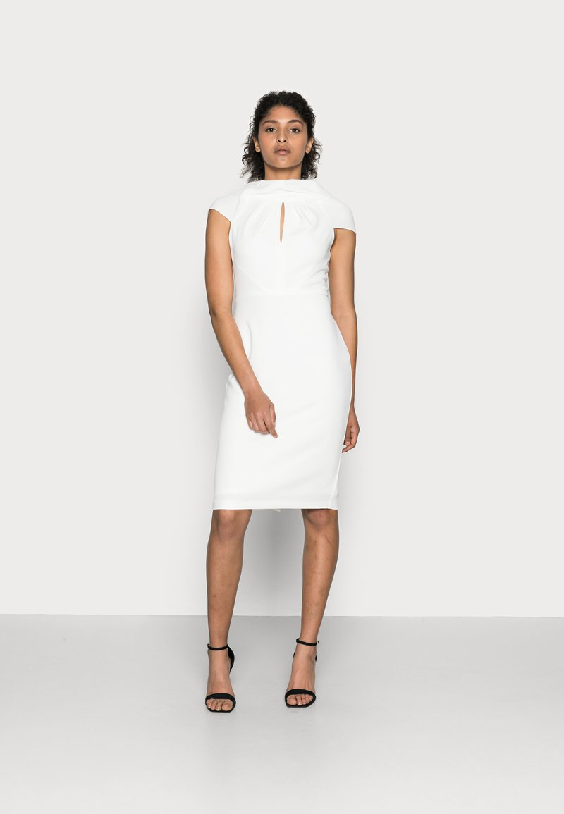Adrianna Papell - CREPE TIE BACK SHEATH - Cocktail dress / Party dress - ivory