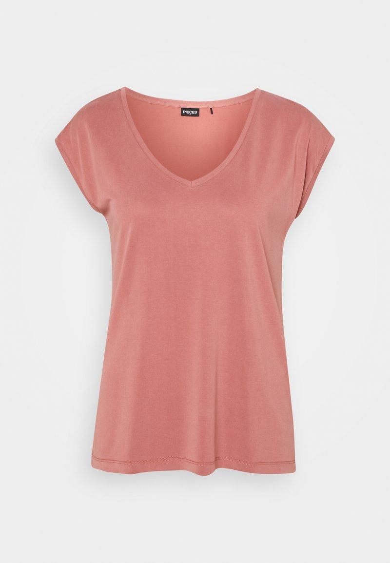 Pieces - PCKAMALA TEE - T-shirt basique - canyon rose