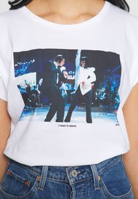 Dedicated - VISBY I WANT TO DANCE - Print T-shirt - white - 5