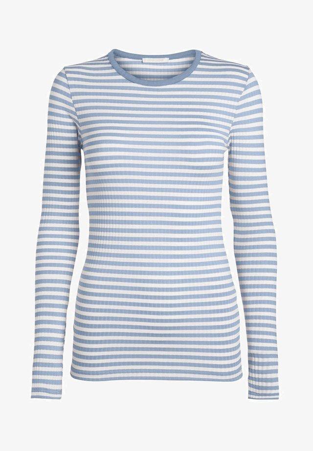 MIT LANGEN ÄRMELN GESTREIFTES - Langærmede T-shirts - cashmere blue