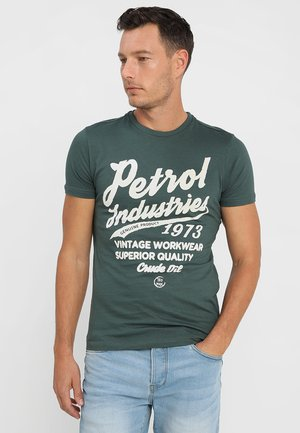 Print T-shirt - night green