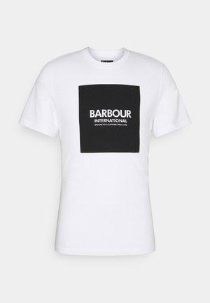 BLOCK TEE - T-shirt print - white