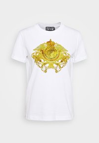 Versace Jeans Couture - SHORT SLEEVE - Print T-shirt - optical white - 4