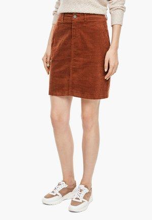 Pencil skirt - cognac