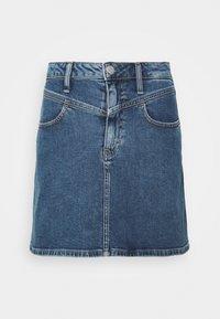 Calvin Klein Jeans - HIGH RISE MINI SKIRT - Jupe trapèze - light blue yoke - 3
