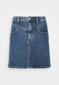 Calvin Klein Jeans - HIGH RISE MINI SKIRT - A-snit nederdel/ A-formede nederdele - light blue yoke - 3