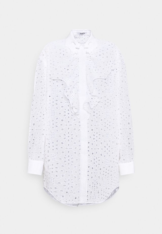 SHIRTS - Bluse - fantasia fondo bianco