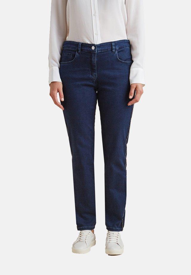 MIT KRISTALL-BORDÜREN - Jeans Skinny Fit - blu