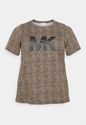 LEOPARD LOGO TEE - Camiseta estampada - dark camel