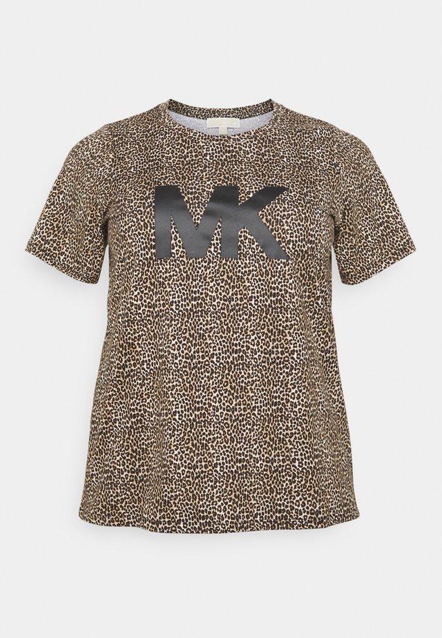 LEOPARD LOGO TEE - T-shirt con stampa - dark camel