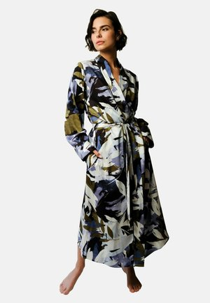 Dressing gown - leaf print