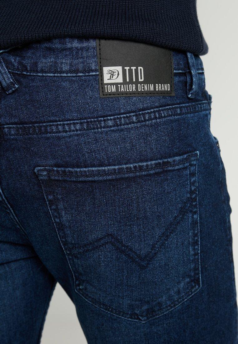 Tom Tailor Denim Piers Pricestarter - Jeans Slim Fit Used Dark Stone/blue Denim/mørkeblå