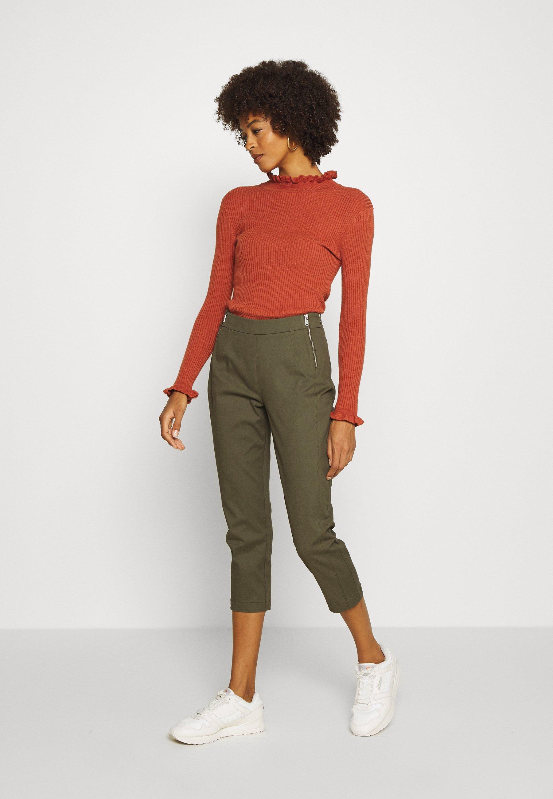 comma Pantalon classique - khaki