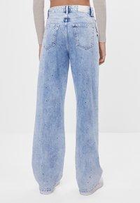 Bershka - Široké džíny - blue denim - 2