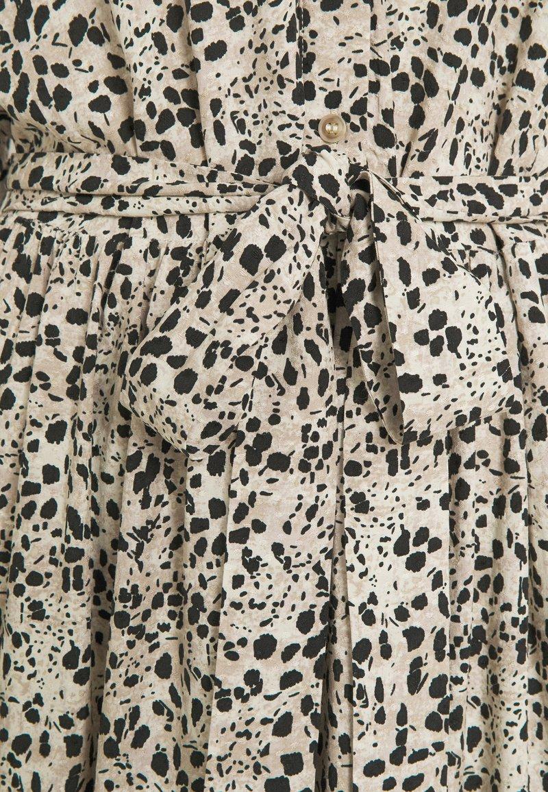OBJHESSA MIDI DRESS TALL   Blusenkleid   sandshell/animal dots