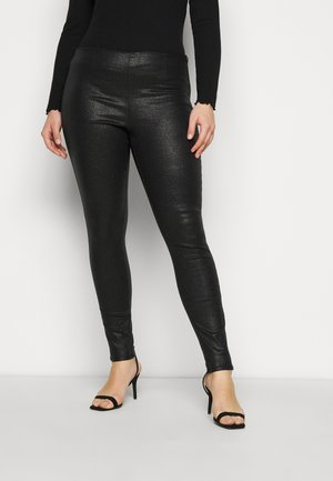PCSKIN PARO GLITTER  - Leggings - Trousers - black