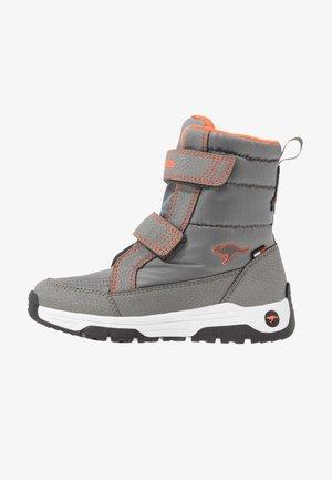 K-MAJOR V RTX - Boots - steel grey/neon orange
