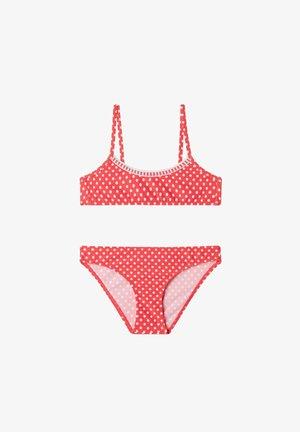 MALAGA - Bikini - glossy red pois bianco