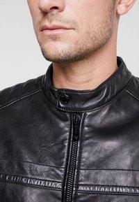 Strellson - BRIXTON - Leather jacket - black - 3