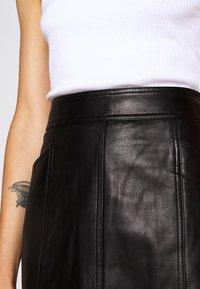Proenza Schouler White Label - LIGHTWEIGHT PENCIL SKIRT - Pouzdrová sukně - black - 5