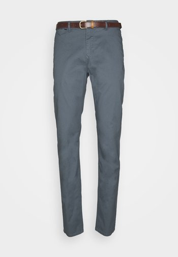 NEW BELTED  - Chino - blue