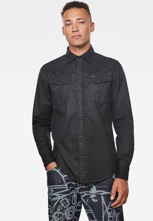 3301 SLIM LONG SLEEVE - Overhemd - dk black cobler