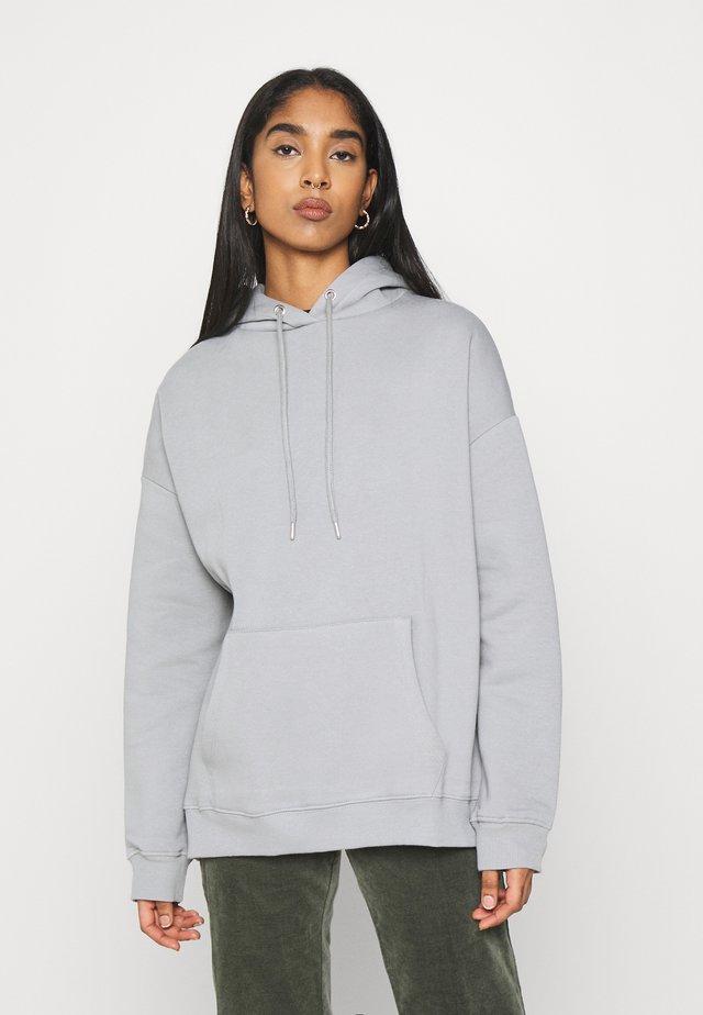 OVERSIZED HOODIE - Bluza z kapturem - gray/blue