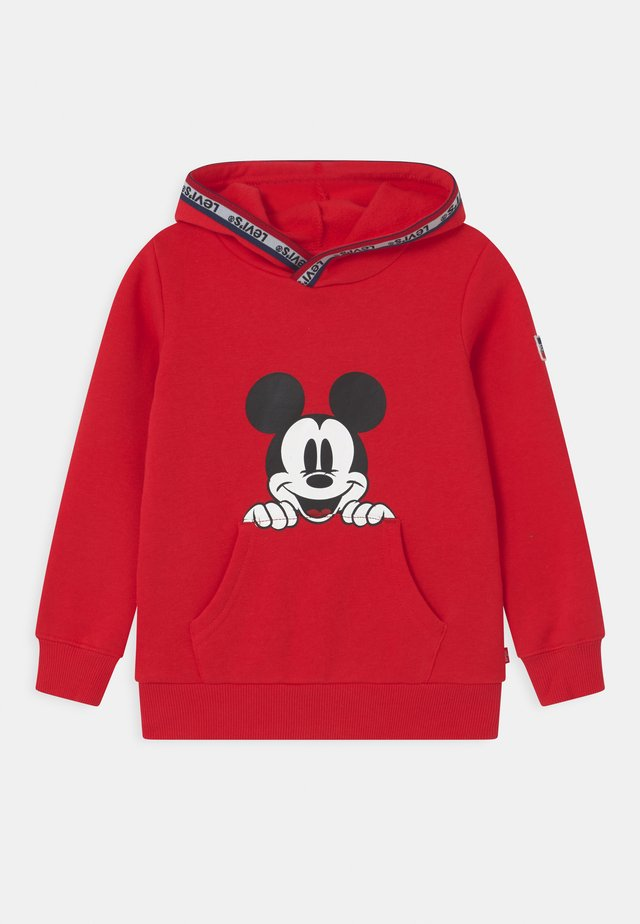 MICKEY MOUSE POCKET HOODIE UNISEX - Mikina skapucí - super red