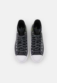 Converse - CHUCK TAYLOR MOVE PLATFORM - High-top trainers - black/lemon/white - 3