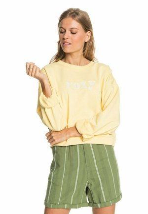 BREAK AWAY CREW - Sweatshirt - pale banana