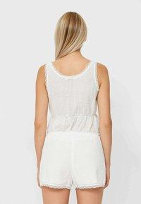 Stradivarius - Pyjama bottoms - white - 2