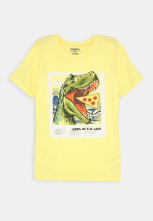 BASIC TEE - Print T-shirt - yellow