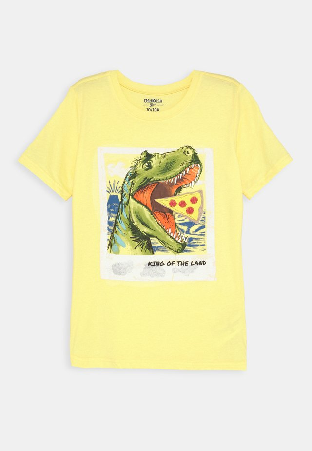 BASIC TEE - T-shirts med print - yellow