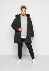 Dorothy Perkins Curve - DIAMOND LONG LUXE - Winter coat - black - 1