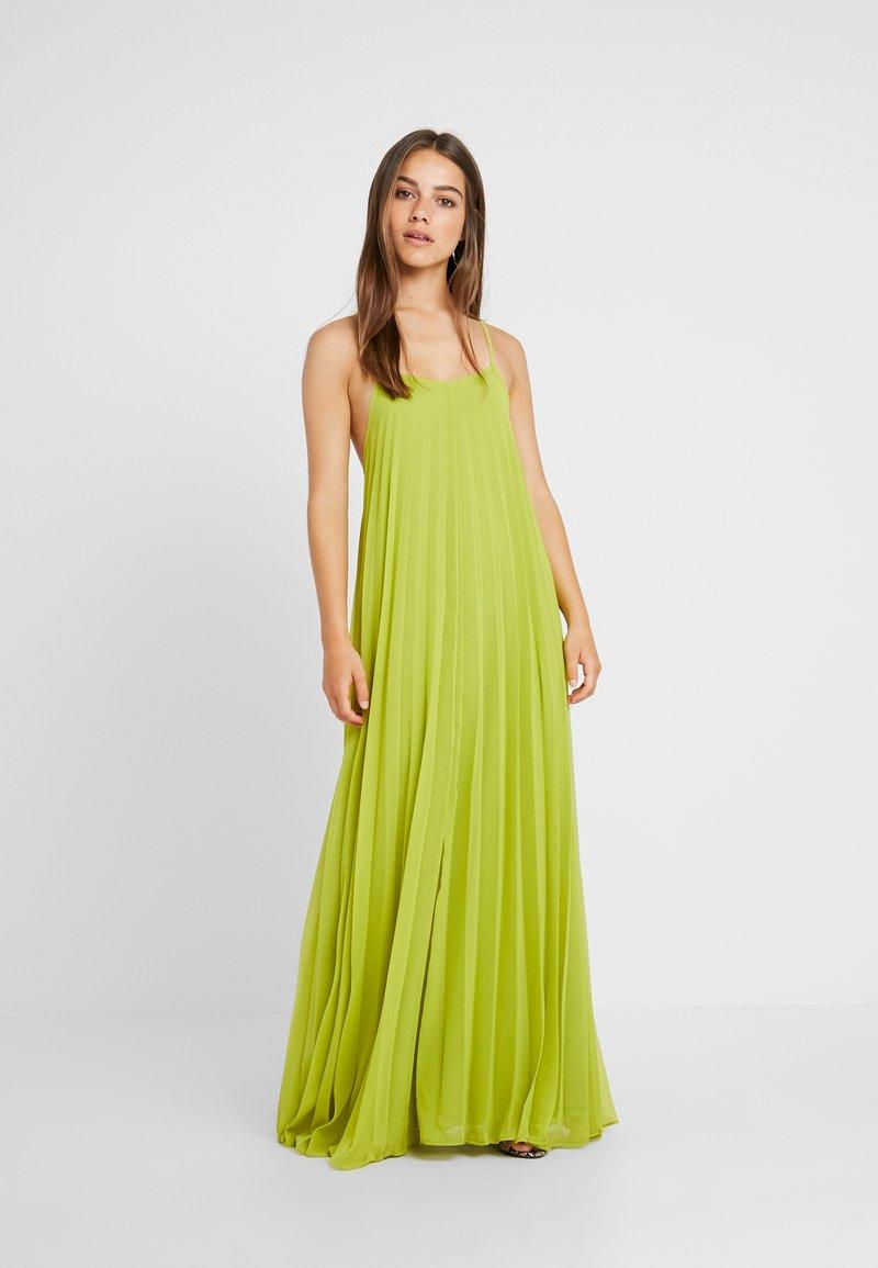 Missguided Petite - STRAPPY PLEATED DRESS - Vestido largo - acid lime