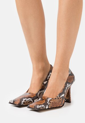ORANA - Tacones - white/brown