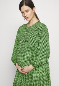 Topshop Maternity - SMOCK TIERED DRESS - Day dress - green/black - 3