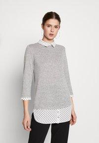 Dorothy Perkins Tall - SPOT HEM 2 - Pullover - light grey - 0
