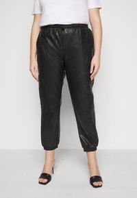 Glamorous Curve - ELASTICATED CUFF - Trousers - black - 0